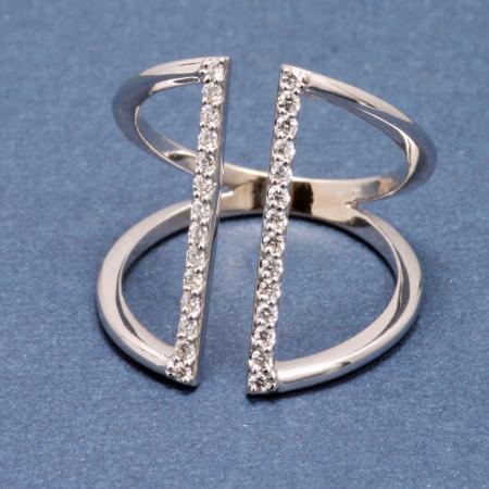 Custom wide angular ring