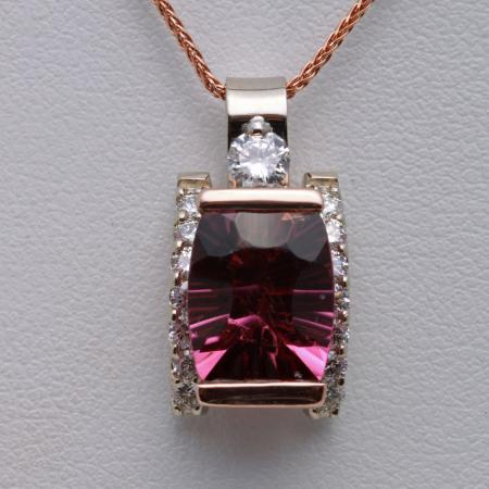 Tourmaline pendant custom 1