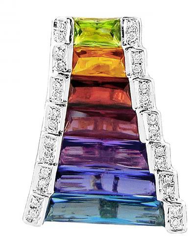 Multi color taper pendant