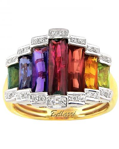 Tapered multi color ring