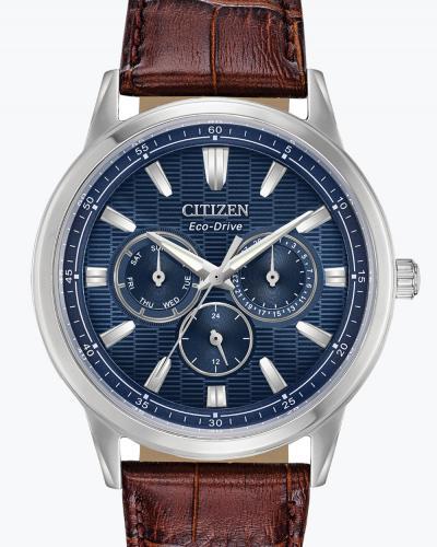 Bu2070-12l corso blue dial brn lthr copy