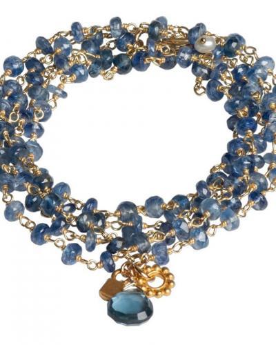 Blue and labradorite multi strand bracelet