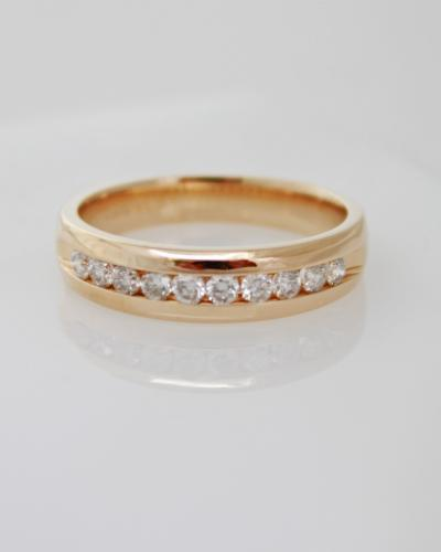 Mens channel set diamond band style ring