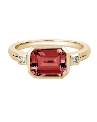 Garnet em cut ring  gr849nvy05ga